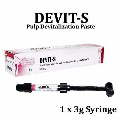 Dental Devit-s Endodontic Devitalizer Paste Root Canal Treatment 3gr