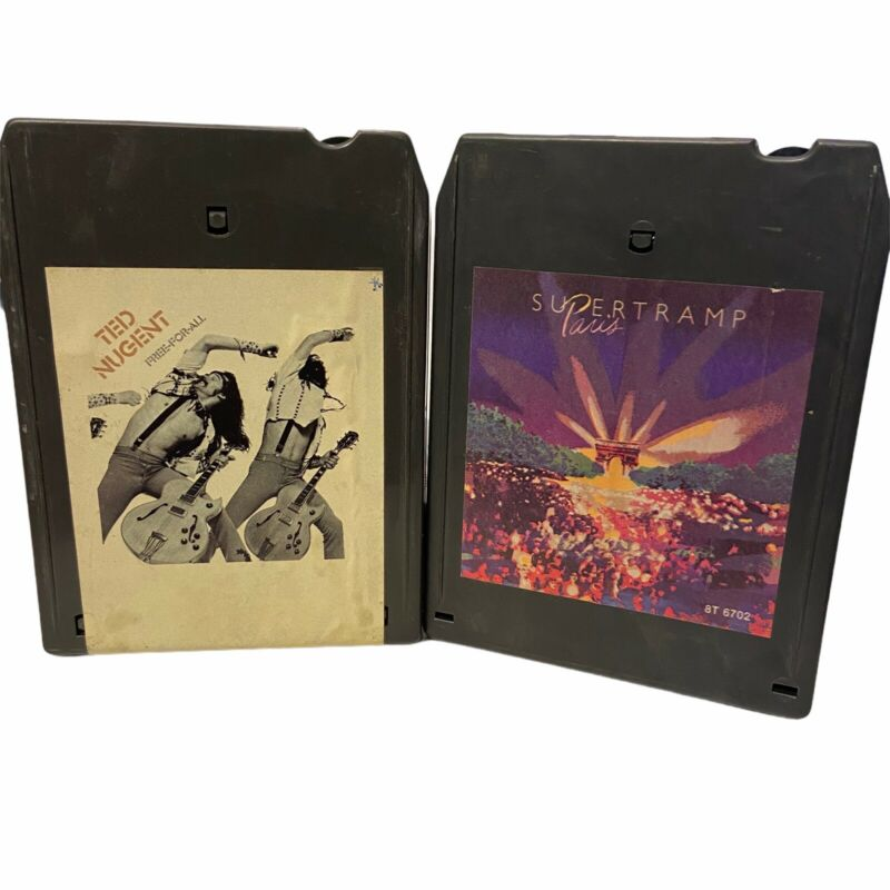 Ted Nugent Free for All Supertramp Paris  8 Track Tested & Works