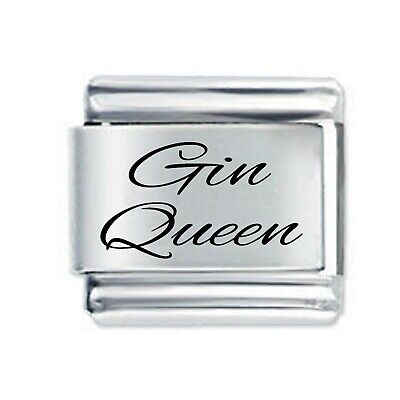 Daisy Charm  - GIN QUEEN  *  Fits Nomination Classic Italian Charm Bracelet