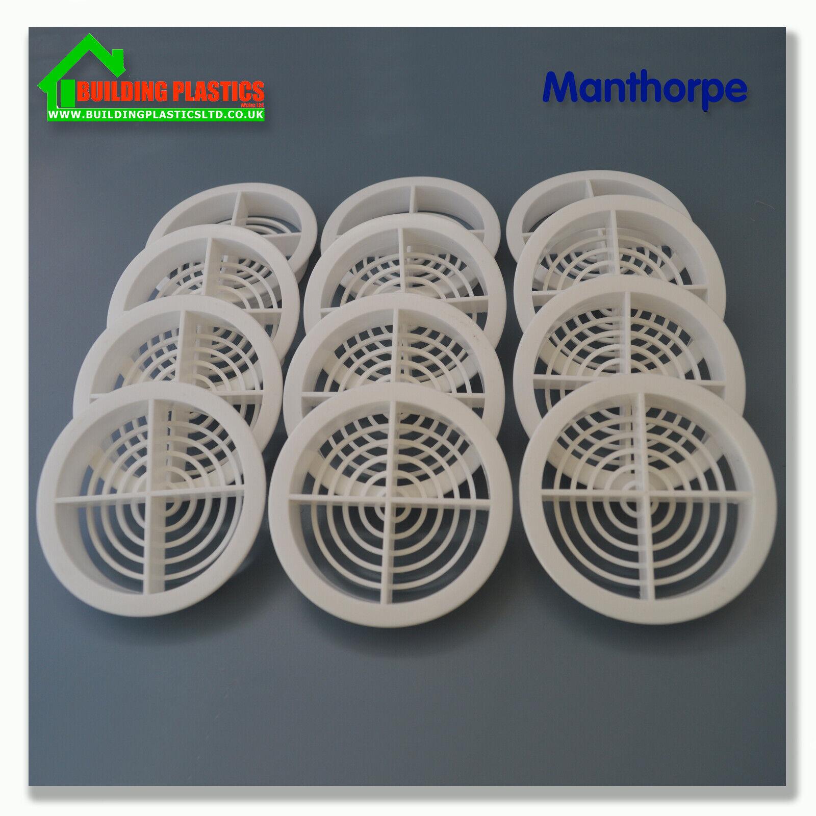 10 x 70mm WHITE SOFFIT ROOF AIR VENT Eaves Fascia Board Disc//Circle UPVC