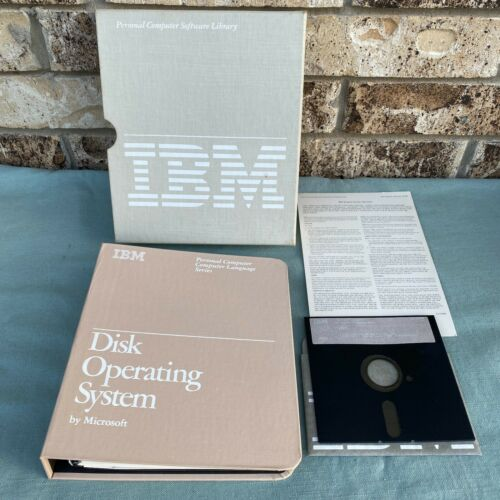 "IBM Microsoft DOS Version 1.10 5.25"" Floppy Manual 2nd Edition 1982 PC Computer"