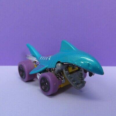 Mattel Hot Wheels Shark Bite Aqua Blue Purple Wheels DHP30