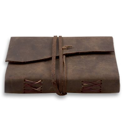 Handmade Leather Journal , Unlined Diary, Travel Notebook And Sketchbook