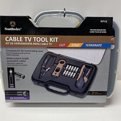 Southwire Cable Tv Tool Kit Coax Termination Set In Plastic Case Kit-c1