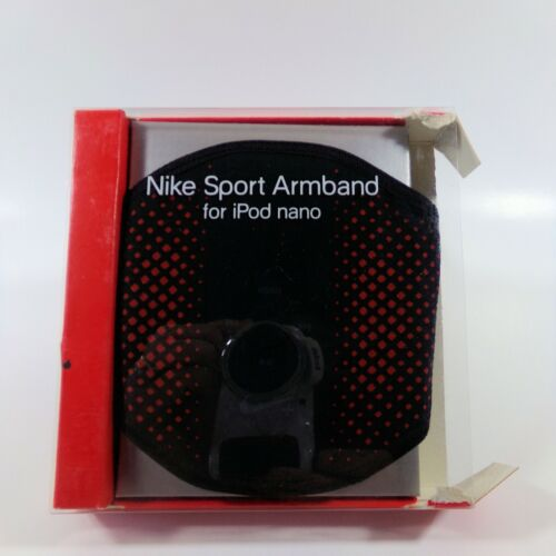 NIKE Sport Arm Band iPod Nano Red & Black Built in Controls