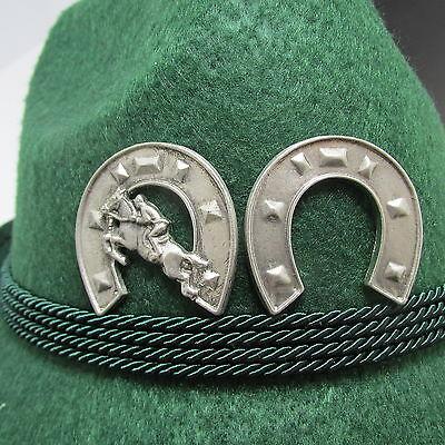 Equestrian/Horse Shoe Pewter Oktoberfest Hat Pins Set of 2