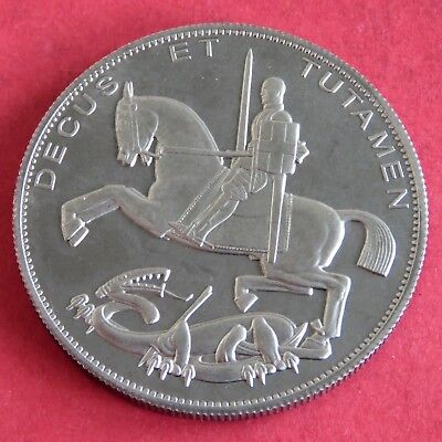 EDWARD VIII 1937 PLATINUM COLOURED PROOF PATTERN ROCKING HORSE CROWN -mintage 18