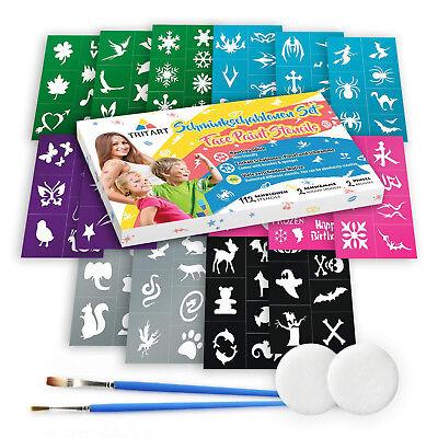 Schmink Schablonen Set | Tattoo Schablonen für Kinder und Eltern | 116 Teile ()