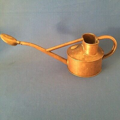 Antique copper HAWS brass plaque watering indoor can with rose no leaks
