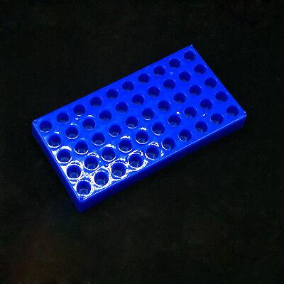 Plastc Vial Rack 50 Holds Diameter 12mm 1.52ml Vials Centrifuge Tube Rack