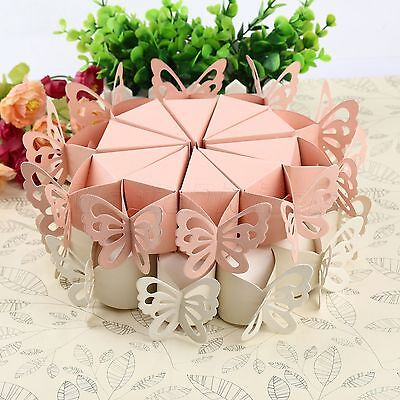 10pcs Butterfly Candy Bomboniere Boxes Baby Shower Box Wedding Favour Party Gift