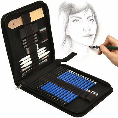 35x Professional Bleistift Skizzieren Stifte Set mit Zeichenkohle Papierwischer (Skizzieren Bleistifte)