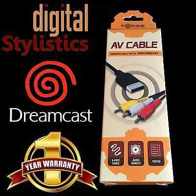 A/V Cable Cord (NEW) Sega Dreamcast (AV Audio Video) NIB Sealed Retail Packaging