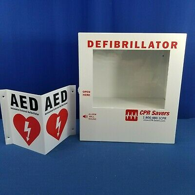 Medical Defibrillator Box And Aed Sign