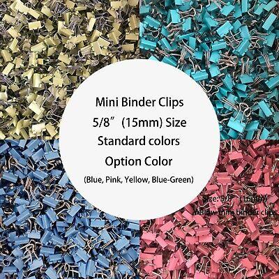 Mini Binder Clips Standard Colors Surface Has Little Bit Scratch Binder Clips