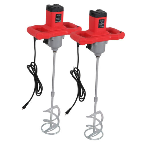 2x Electric Handheld Mixer Mud Paint Portable Concrete Mortar Cement Mixers Business & Industrial