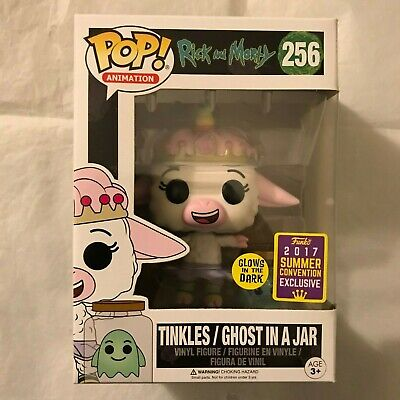 Funko Pop! SDCC 2017 Rick and Morty GITD GLOW Tinkles Ghost in a Jar