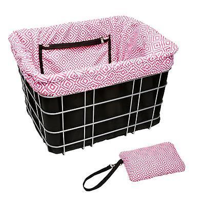 Electra Fahrrad Korb Einlage Schwarz Pink Lenker Weiden Einkaufstasche Einsatz