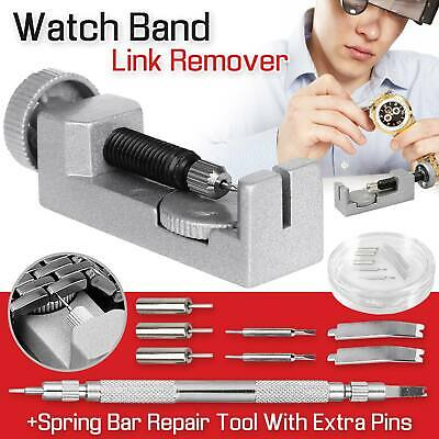 Watch Band Strap Bracelet Link Pin Remover Repair Tool Kit Set Metal Adjustable