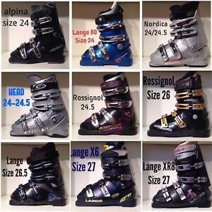 Downhill Ski Boots Size 24-27 ($40 to $70)