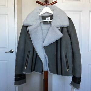 Gap Suede Shearling Winter Jacket