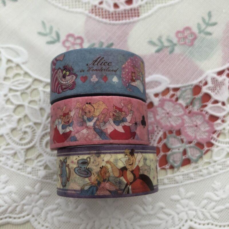 Disney Alice In Wonderlands Washi Decoration Tape Set Of 3