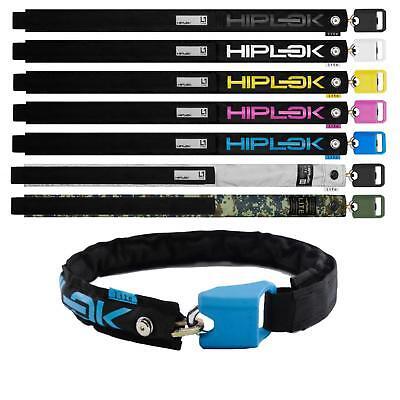 Hiplok Lite Kettenschloss Gürtel Tragbar Hüfte 6mm Stahlkette Nylon Fahrrad Lock ()