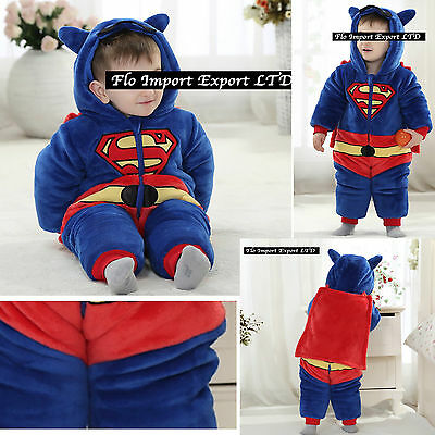 Superman Karnevalskostüme warm Anzug Kind Baby Boy Kostüm Strampelanzug -