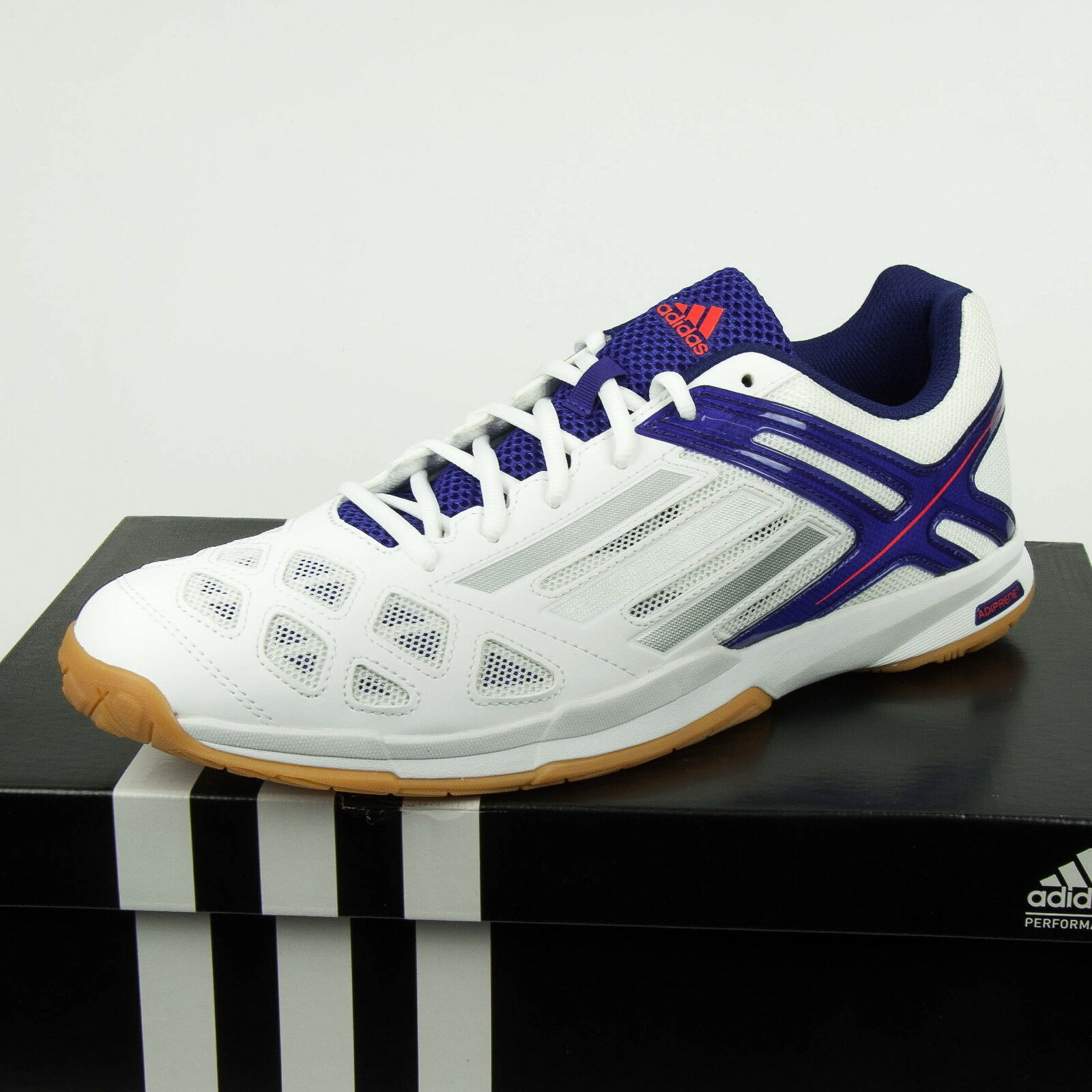 info for efcdb 35368 Adidas Feather Team Herren Hallenschuhe Badminton Sportschuhe B40155