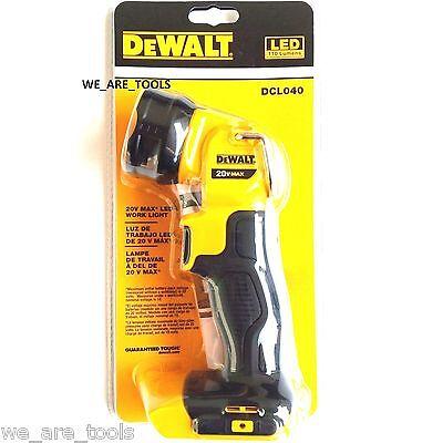 New Dewalt MAX DCL040 20V Cordless LED Battery Light, Lamp, Floodlight 20 Volt