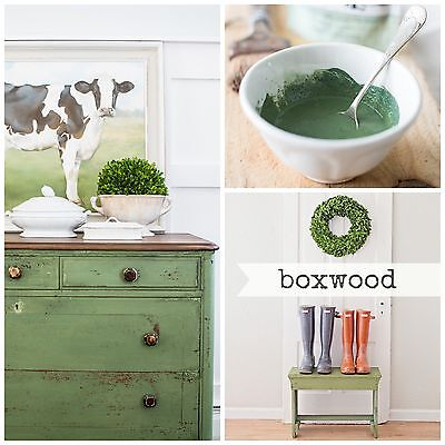 (ss Mustard Seed's Milk Paint - Boxwood green - Sample Size furniture painting)