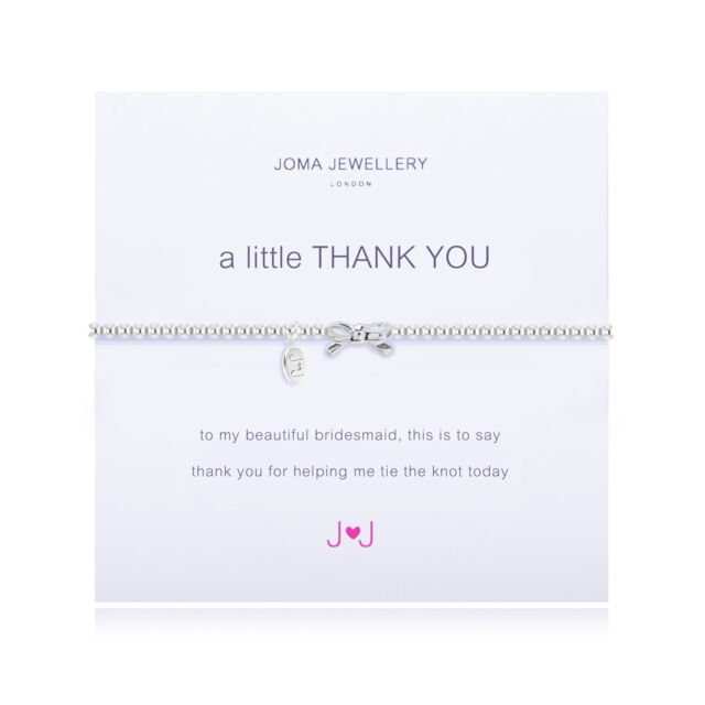 Joma Jewellery A Little Thank you Bridesmaid bracelet
