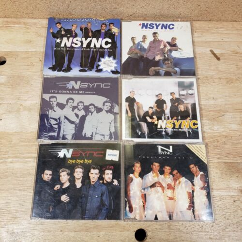 LOT of 6 NSYNC CDs Singles Imports Together Again Bye Bye Bye Gonna be Me Time