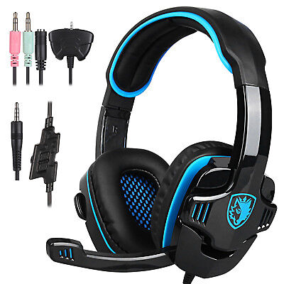 SADES SA-708 GT Gaming Headset Headphone With  Microphone For PS4 PC Laptop xbox