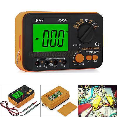 VC60B+ Digital Insulation Resistance Tester Megger MegOhm Meter 0.1~2000MΩ 1000V