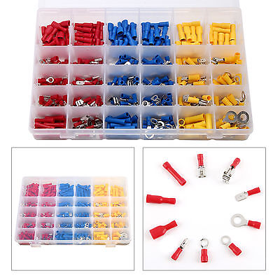 720 Pcs Insulated Assorted Electrical Wire Terminals Crimp Connector Spade Set