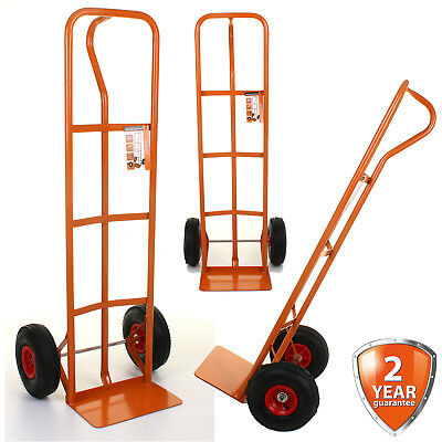 Heavy Duty Hand Sack Truck Trolley Industrial Pneumatic Puncture Proof Tyres