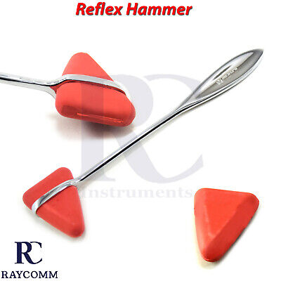 Surgical Medical Taylor Percussion Reflex Hammer Rubber Head Neuro Instruments