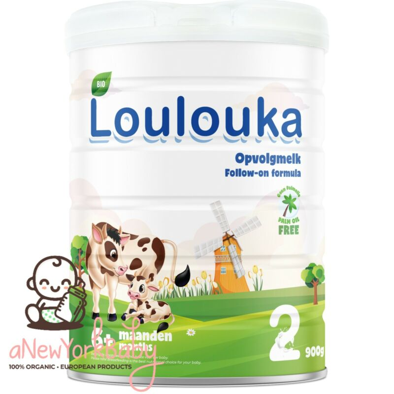 1 Can Loulouka Organic Stage 2 Follow On Powder Formula, 900g - With DHA