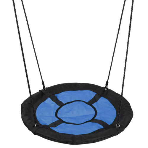 Premium Heavy Duty Porch Stand+ 40″ Large Kids Saucer Tree Swing Safe PE Rope Outdoor Toys & Structures