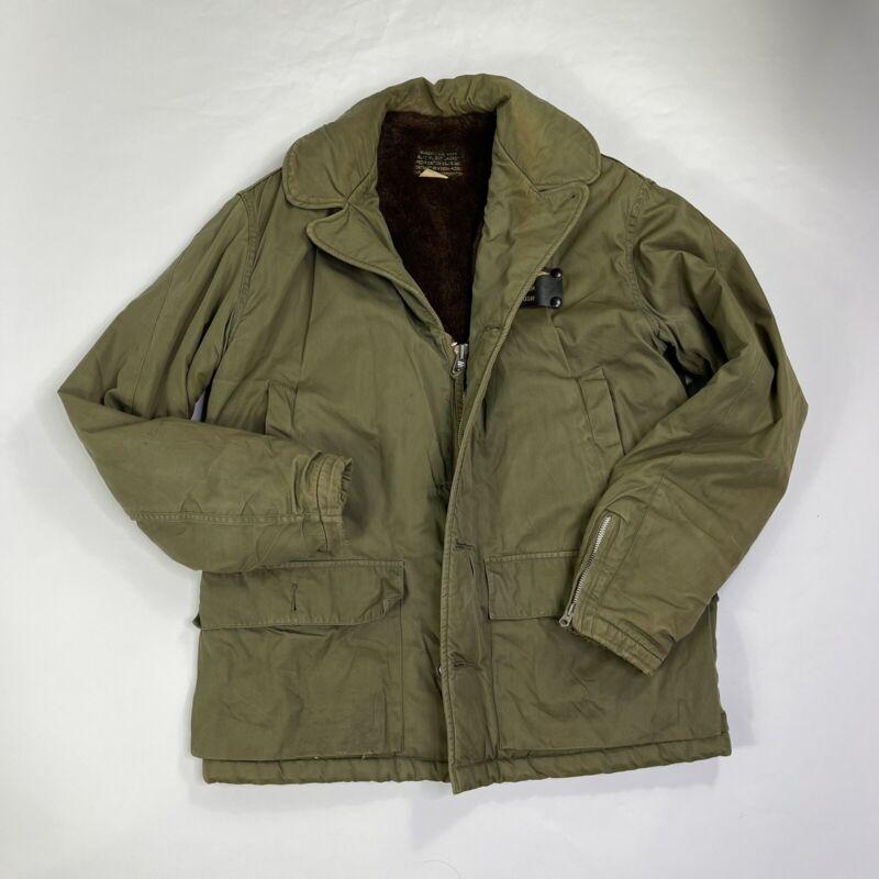 Vintage 40s 50s USN Buaero US Navy AL-1 Flight Jacket Alpaca Lined Mens Size 38