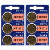 6 NEW SONY CR2032 3V Lithium Coin Battery Expire 2027 FRESHLY NEW - USA Seller