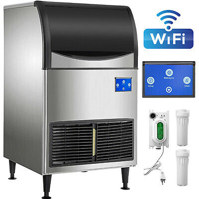 Commercial Ice Maker 265lbs24h With 121lbs Large Storage Capacity Wifi System
