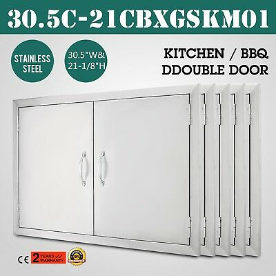 "30"" BBQ Hypocritical Access Door Outdoor Kitchen Fireplace Stainless Concealed Hinges"