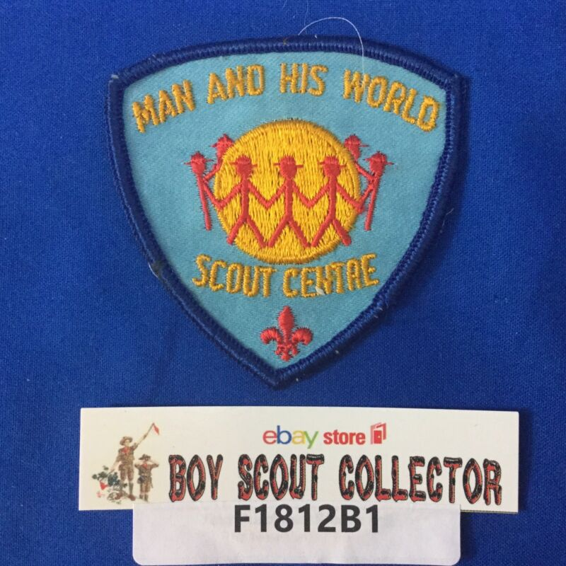 Boy Scout Man And His World Scout Center Patch Canada
