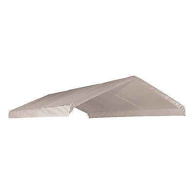 12 X 20 Heavy Duty 12mil Valance Replacement Canopy Tarp Carport Cover -White