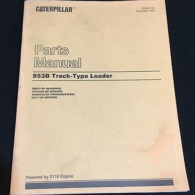 Caterpillar 953B Track Type Loader Parts Manual For Serial Numbers 5Mk1 Up