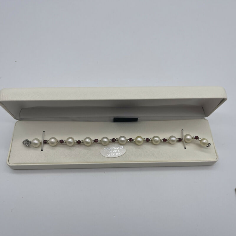 Vintage Freshwater Pearl & Sterling Bracelet