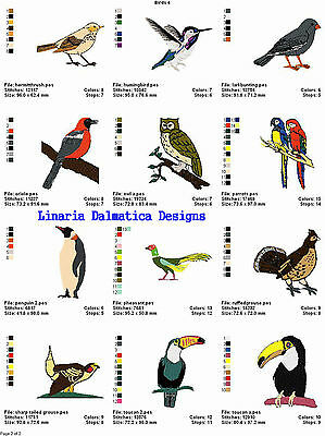 BEAUTIFUL BIRDS V. 4(4x4) LD MACHINE EMBROIDERY DESIGNS