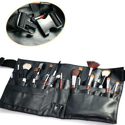 New Beauty Black Artist Makeup Brushes Tool Case bag With Belt Apron Strap